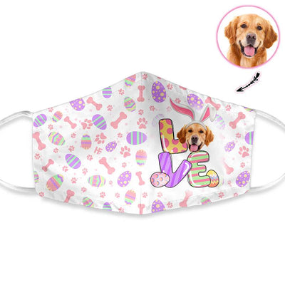 Personalized Dog Face Love Easter EZ30 1503 Custom Face Mask - Hyperfavor