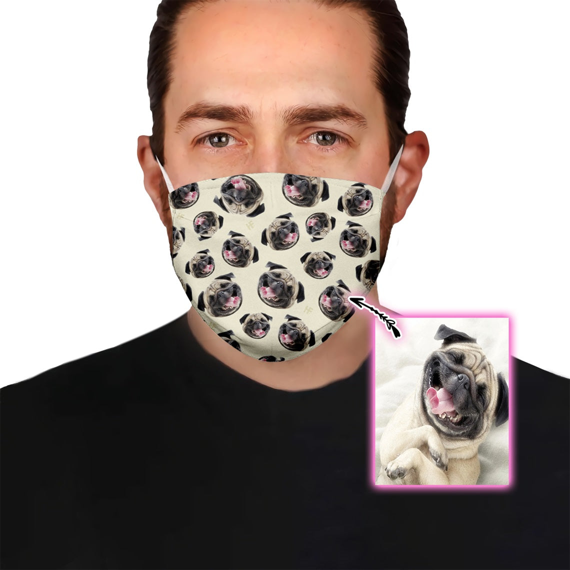 Premium Dog Face Pattern EZ09 1805 Custom Face Mask - Hyperfavor