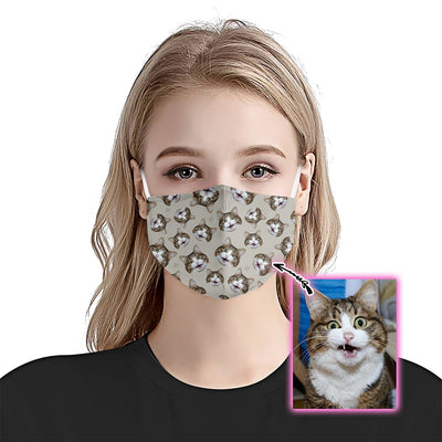 Premium Cat Face Pattern EZ09 1805 Custom Face Mask - Hyperfavor