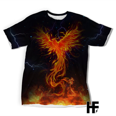 Phoenix Thunder Rage Moon Spirit of Warriors Fire Ver EZ09 1803 All Over T-shirt - Hyperfavor