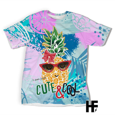 Pineapple Cute And Cool Girl Colorful EZ06 1403 All Over T-Shirt - Hyperfavor