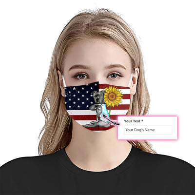 Pitbull American Flag EZ07 1805 Custom Face Mask - Hyperfavor