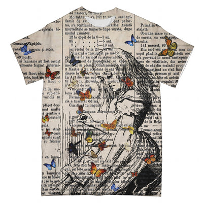 Playing With Butterflies EZ08 2503 All Over T-shirt - Hyperfavor
