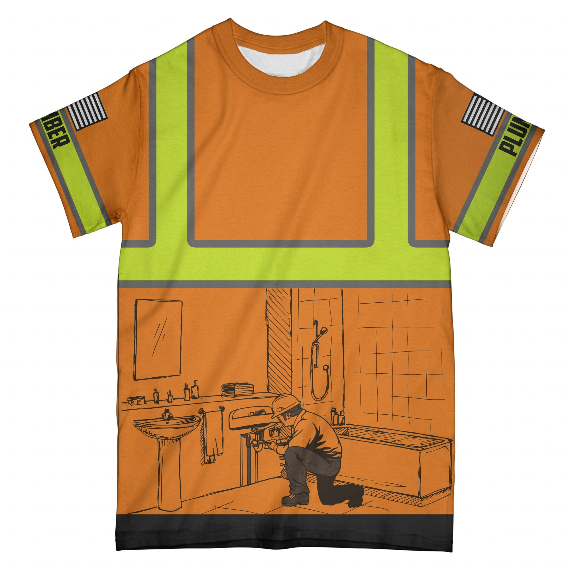 Plumber EZ10 1808 All Over T-Shirt - Hyperfavor