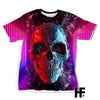 Polygon Skull EZ06 1103 All Over T-Shirt - Hyperfavor