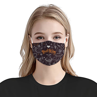 Popular Symbols Of Thanksgiving EZ24 1010 Face Mask - Hyperfavor