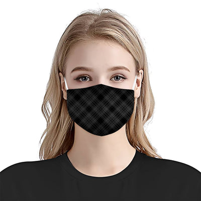 Premium BnW Plaid EZ08 1604 Face Mask - Hyperfavor