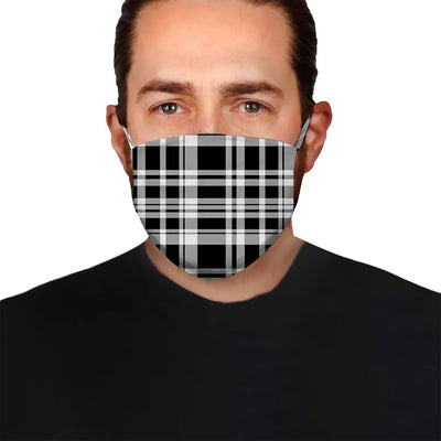 Premium Black Plaid EZ08 1604 Face Mask - Hyperfavor
