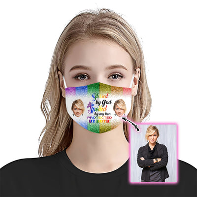 Protected By God & Spoiled By Her Les Ver EZ09 1805 Custom Face Mask - Hyperfavor