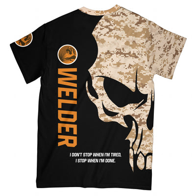 Proud Welder EZ12 1908 All Over T-shirt - Hyperfavor