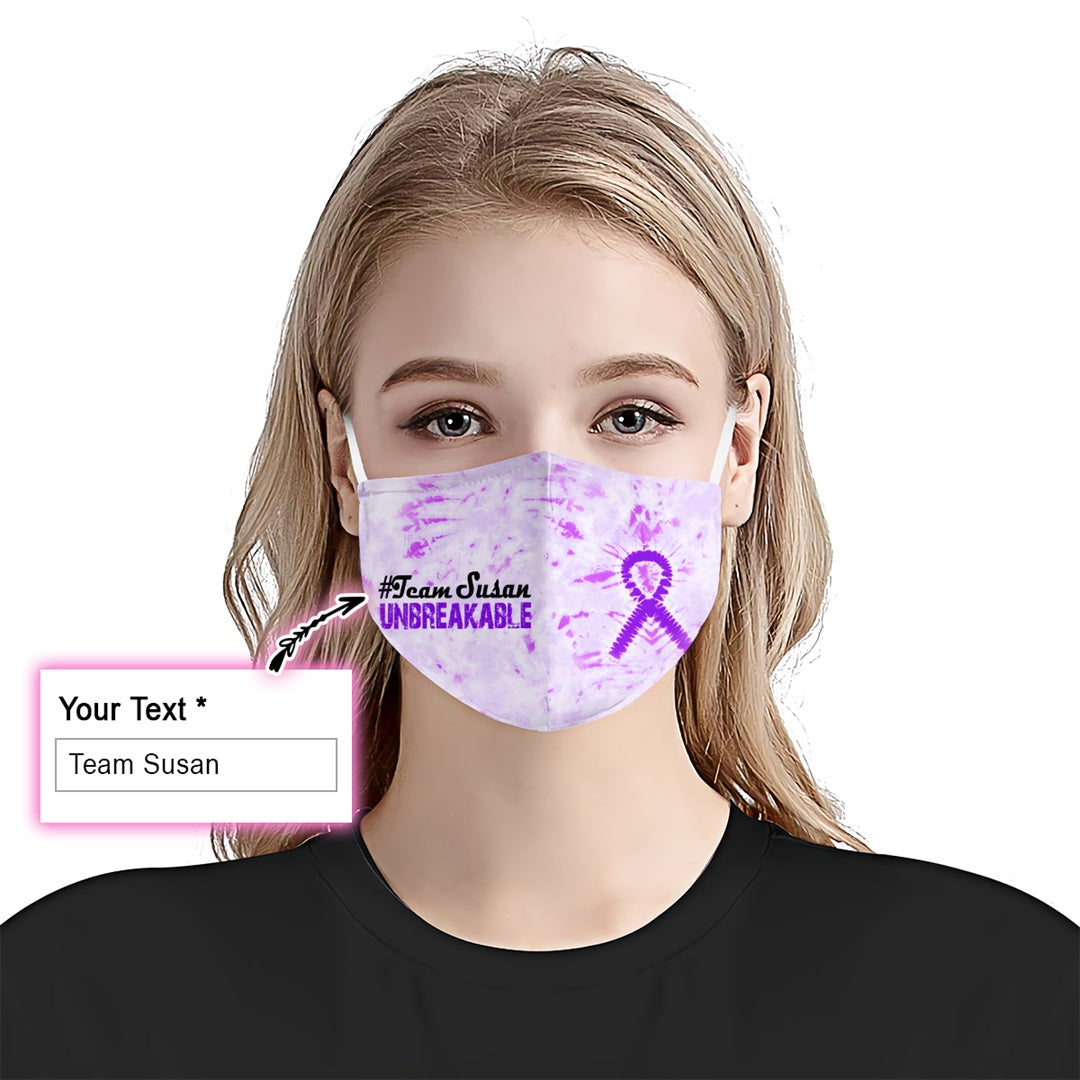 Alzheimer's Tie-Dye Team EZ10 1805 Custom Face Mask - Hyperfavor