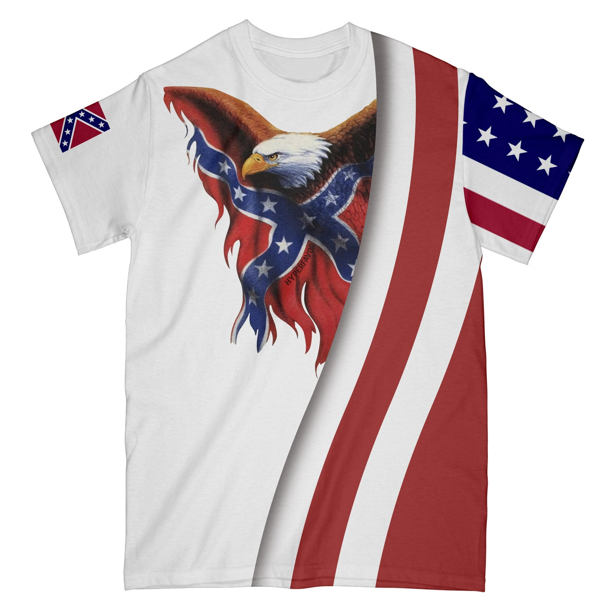 Redneck Eagle EZ08 2908 All Over T-shirt - Hyperfavor