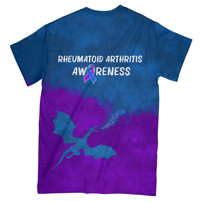 Rheumatoid Arthritis Awareness Fight Like A Dragon EZ01 3003 All Over T-shirt - Hyperfavor