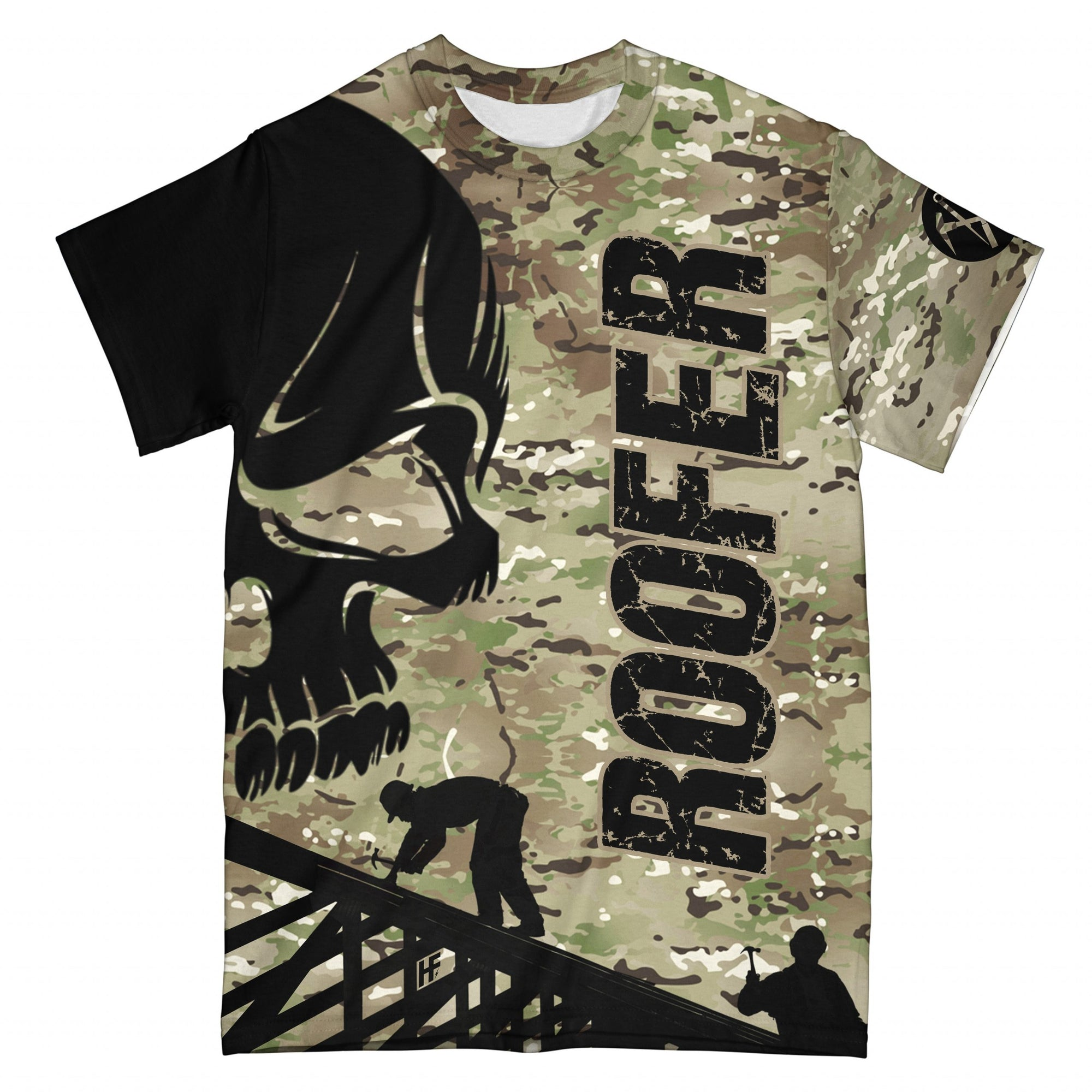 Roofers Were Created Because Engineer Need Heroes EZ10 1508 All Over T-Shirt