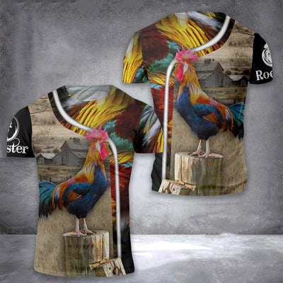 Rooster 3D 02 EZ08 1508 All Over T-shirt - Hyperfavor