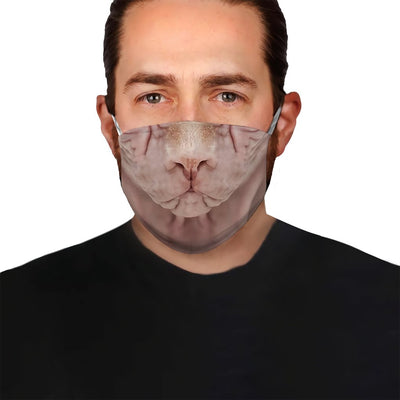 Sphynx cat Face EZ03 1504 Face Mask - Hyperfavor
