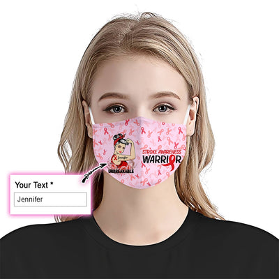Stroke Awareness Unbreakable Girl EZ09 2205 Custom Face Mask - Hyperfavor