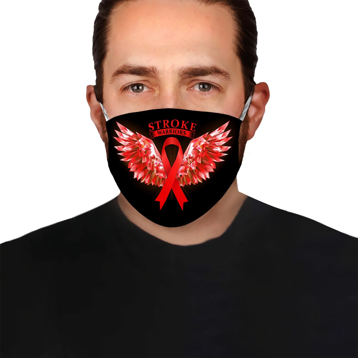 Stroke Warriors Angel Wings EZ10 0405 Face Mask - Hyperfavor