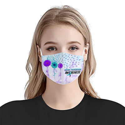 Suicide Prevention Awareness Faith Hope Love EZ03 0405 Face Mask - Hyperfavor