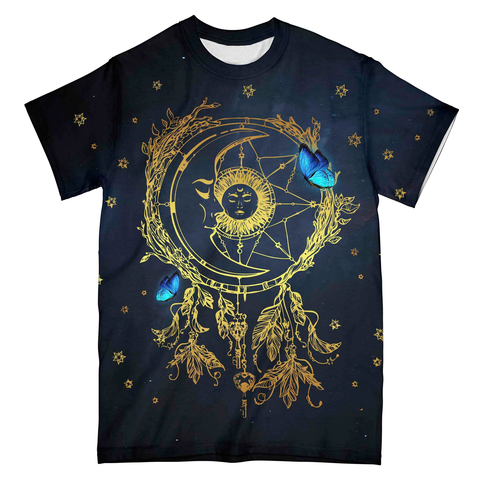 Sun And Moon Butterfly Dreamcatcher EZ08 0604 All Over T-shirt - Hyperfavor