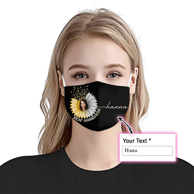 Premium Sunflower Deaf Awareness EZ09 2105 Custom Face Mask - Hyperfavor