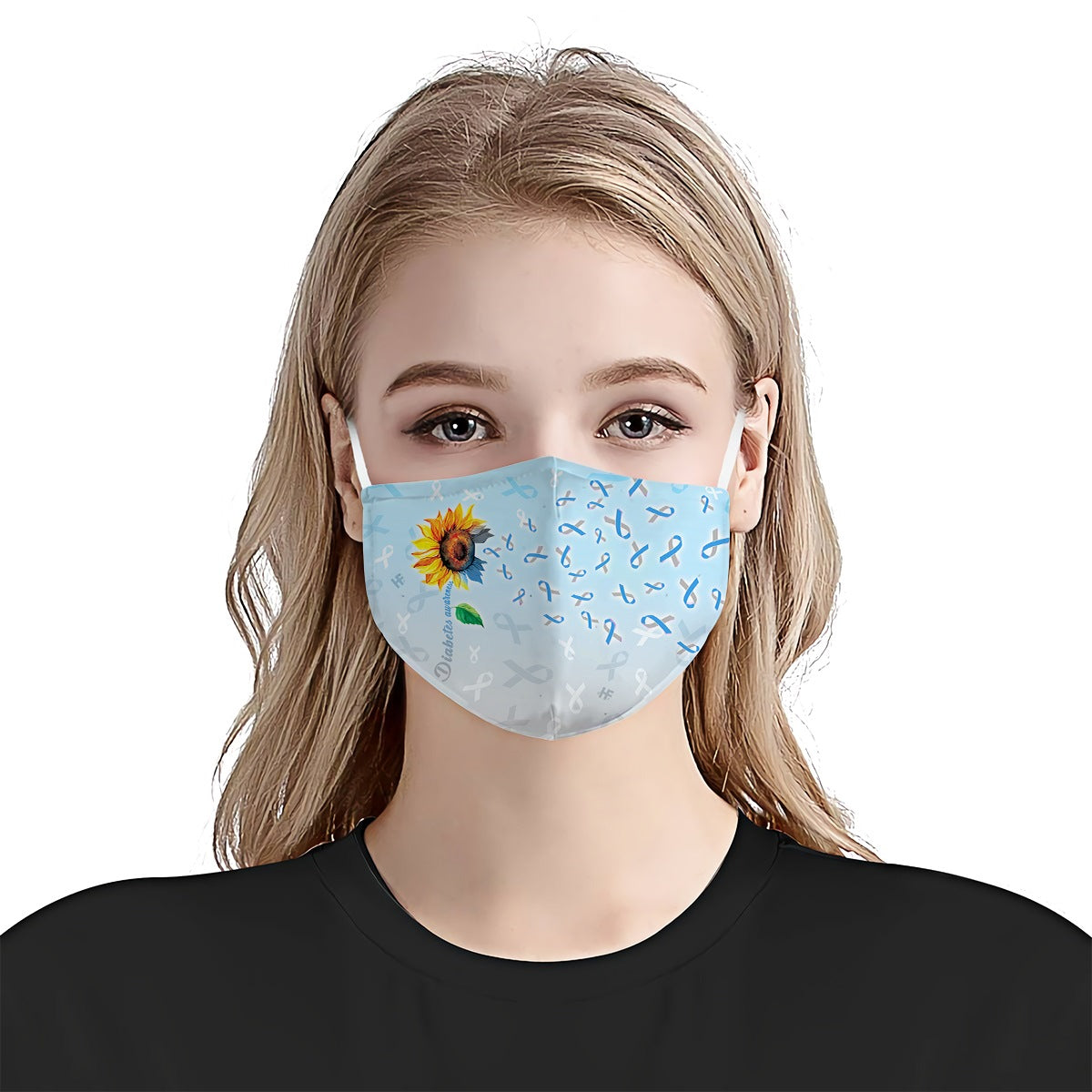 Sunflower Diabetes Awareness Warrior EZ03 1904 Face Mask - Hyperfavor