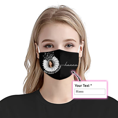 Premium Sunflower Lung Cancer Awareness EZ09 2105 Custom Face Mask - Hyperfavor