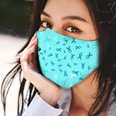 Sunflower Ovarian Cancer Awareness EZ03 0405 Face Mask - Hyperfavor