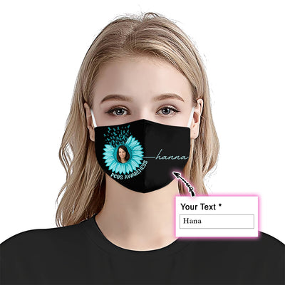 Premium Sunflower PCOS Awareness EZ09 2105 Custom Face Mask - Hyperfavor