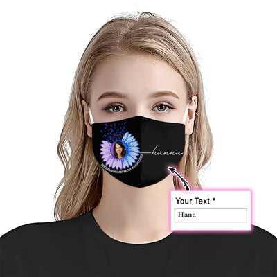 Premium Sunflower Rheumatoid Arthritis Awareness EZ09 2105 Custom Face Mask - Hyperfavor