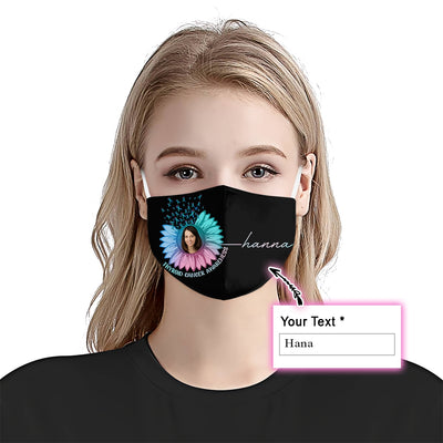 Premium Sunflower Thyroid Cancer Awareness EZ09 2105 Custom Face Mask - Hyperfavor