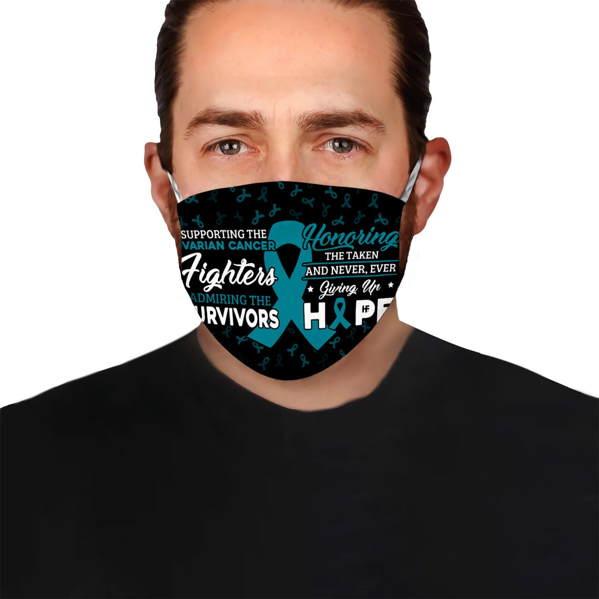 Supporting the Ovarian Cancer fighters EZ02 2504 Face Mask - Hyperfavor