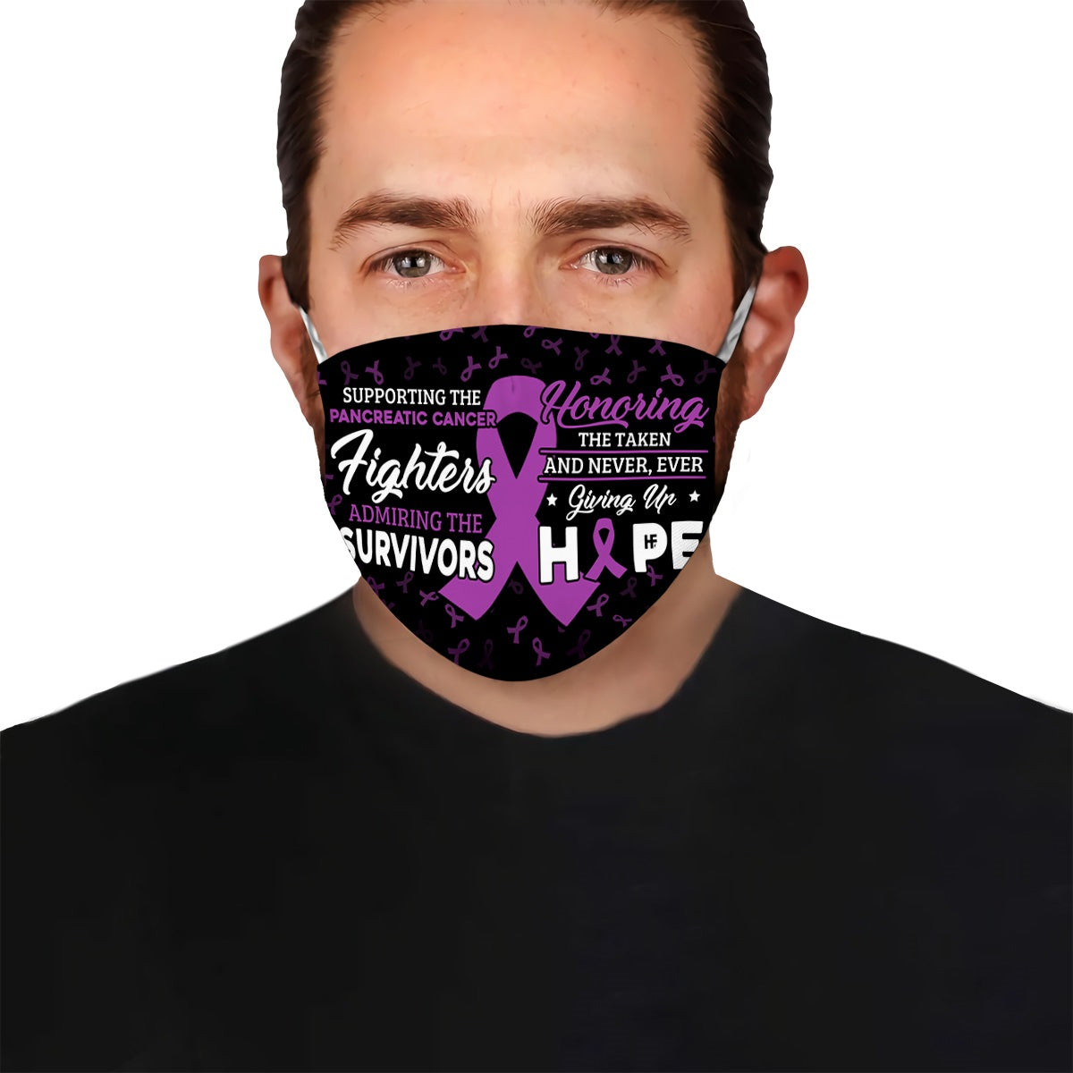 Supporting the Pancreatic Cancer fighters EZ02 2504 Face Mask - Hyperfavor