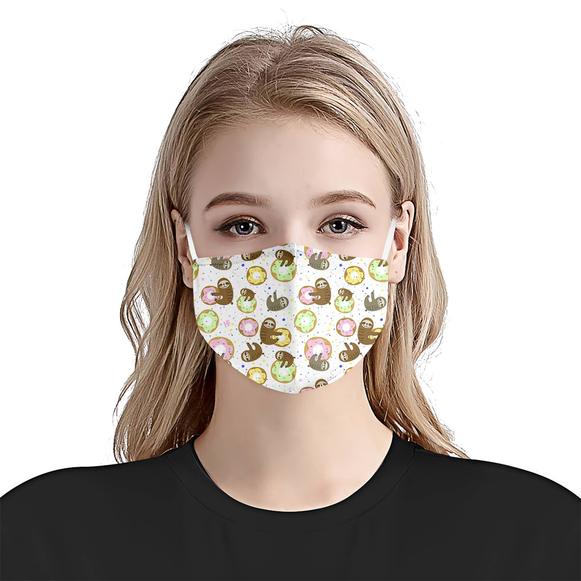 Sweet Sloths Donuts Pattern EZ13 2905 Face Mask - Hyperfavor