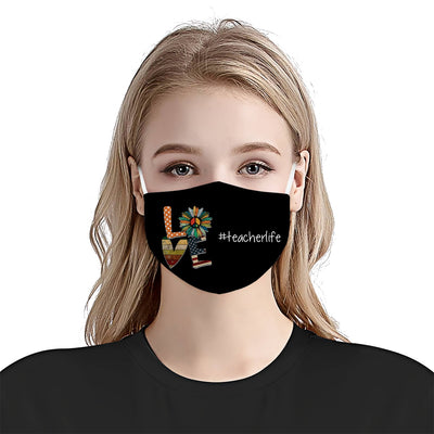 Teacher Life Love EZ06 1405 Face Mask - Hyperfavor