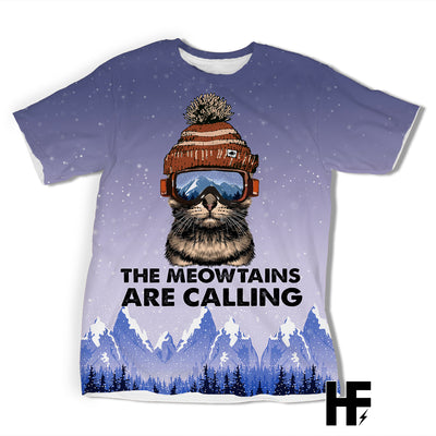 The Meowtains Are Calling EZ03 1103 All Over T-shirt - Hyperfavor