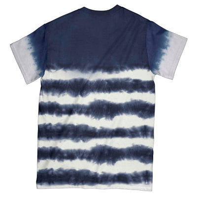 Tie Dye Skull EZ09 Navy 1104 All Over T-Shirt - Hyperfavor