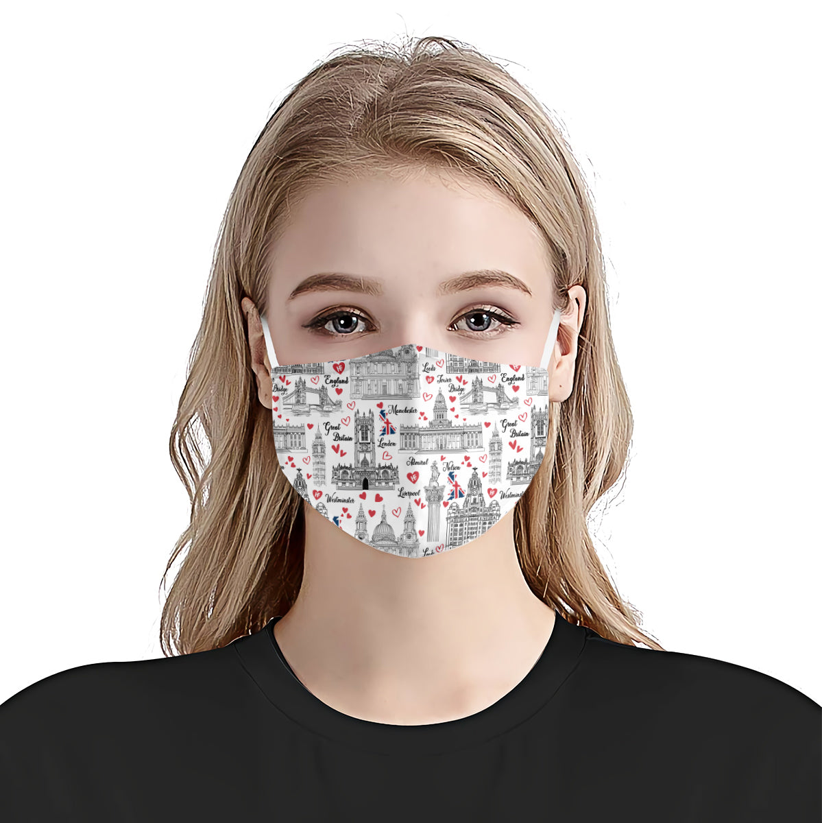 England Famous Cities Seamless EZ02 2906 Face Mask - Hyperfavor