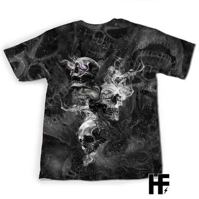 Triple Skull EZ08 1703 All Over T-shirt - Hyperfavor