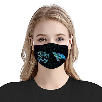 Turtle Queens Are Born In July EZ10 1105 Face Mask - Hyperfavor