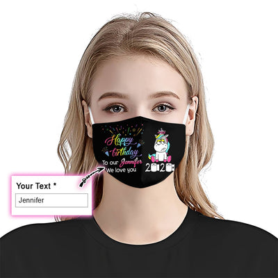 Unicorn Cute July Birthday 2020 EZ10 2205 Custom Face Mask - Hyperfavor