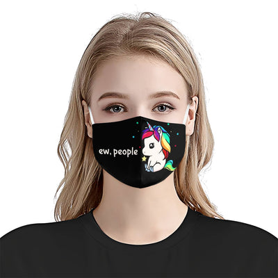 Unicorn Ew, People EZ03 1405 Face Mask - Hyperfavor