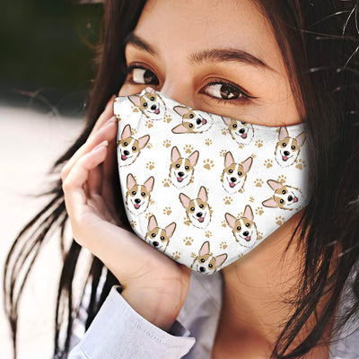 Welsh Corgi Pattern EZ01 Face Mask - Hyperfavor
