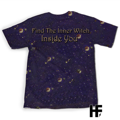 Wicca Inner Witch Dark Purple Version EZ10 1003 All Over T-Shirt - Hyperfavor