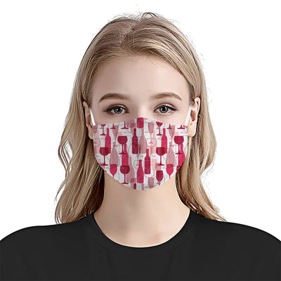 Wine Pattern 02 EZ03 1604 Face Mask - Hyperfavor