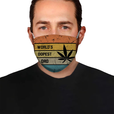 World's Dopest Dad EZ15 2705 Face Mask - Hyperfavor