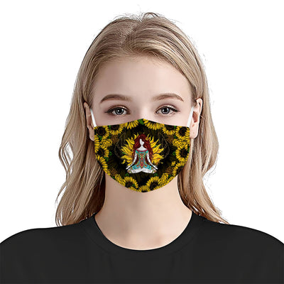 Yoga Sunflower EZ06 1704 Face Mask - Hyperfavor
