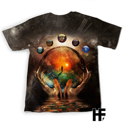 Spiritual Crystal Ball EZ07 1303 All Over T-Shirt - Hyperfavor