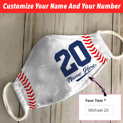 Personalized Baseball Name And Number 02 EZ01 2805 Custom Face Mask - Hyperfavor