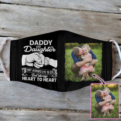Daddy And Daughter Heart To Heart Black EZ01 1805 Custom Face Mask - Hyperfavor